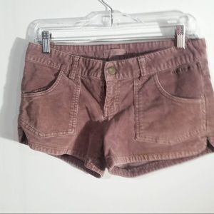 Pink corduroy Billabong shorts size 3
